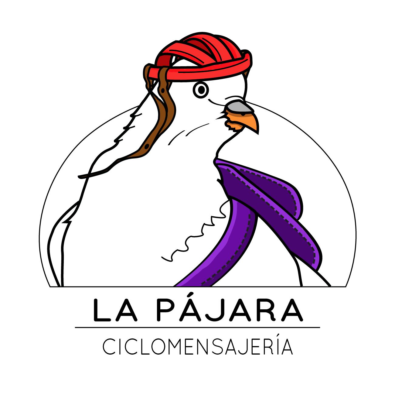 La Pájara Ciclomensajería Logo